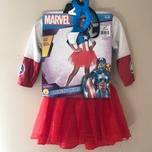 Toddler Girls Marvel American Dream costume 3-4 yr